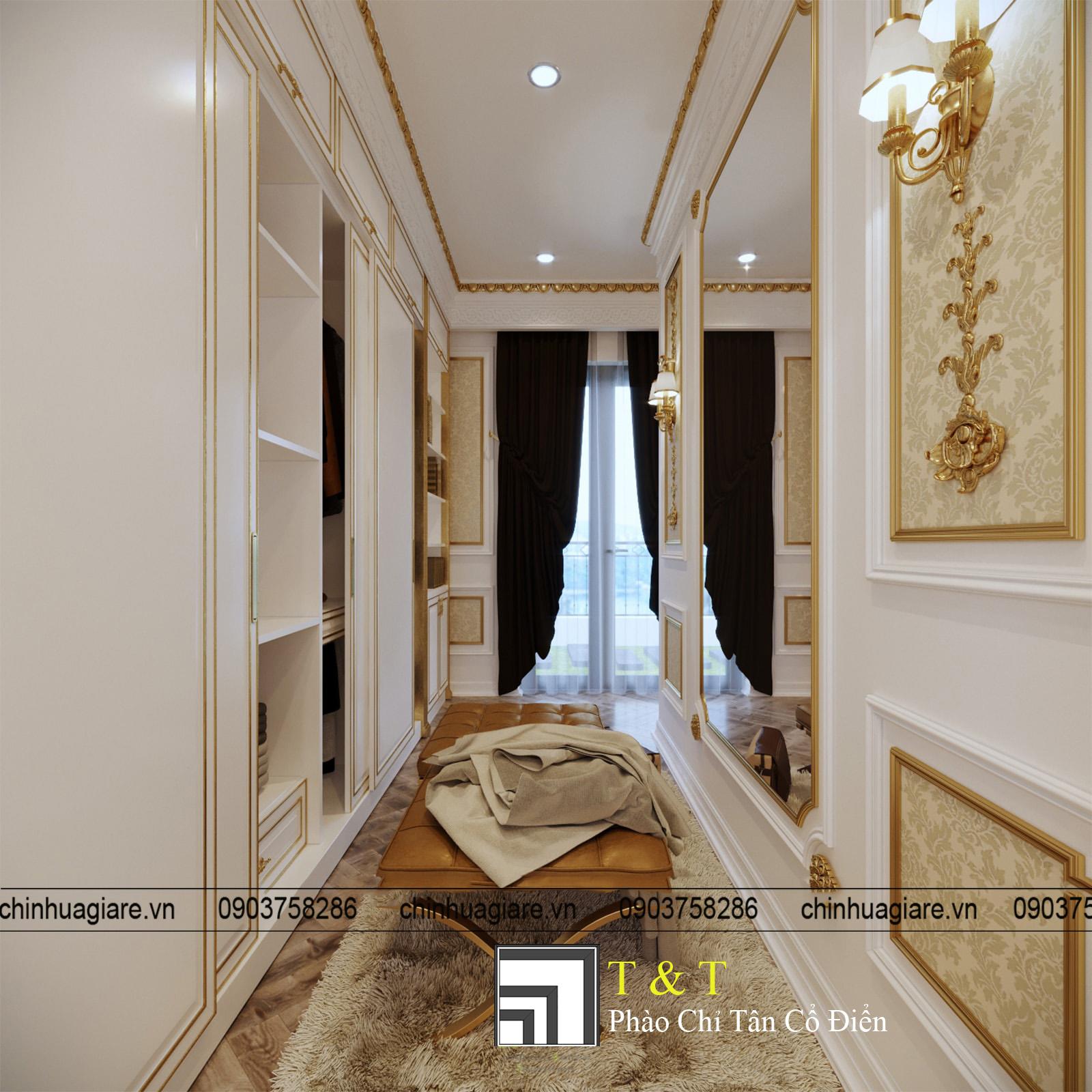 Mẫu thiết kế nội thất biệt thự tân cổ điển Pháp full